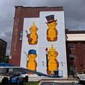 Honey Bears by Artist fnnch Rise on Huge New Mural in Grand Center