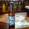 On the Patio at Failoni's Restaurant, We're Drinking a Busch Light