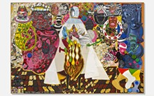 Trenton Doyle Hancock, Coloration Coronation, 2016. Acrylic and mixed media on canvas, 90 x 132 inches. © Trenton Doyle Hancock. Courtesy the artist and James Cohan, New York.