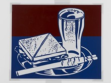 "Roy Lichtenstein, Sandwich and Soda from the portfolio X + X (Ten Works by Ten Painters), 1964. Screen print on mylar, 20 x 24"". Mildred Lane Kemper Art Museum, Washington University in St. Louis. University acquisition, 1970."