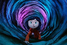 ©2008 LAIKA, INC. ALL RIGHTS RESERVED - Coraline (voiced by Dakota Fanning) ventures deep into the rabbit hole of Selick and Gaiman's boundless imaginations.