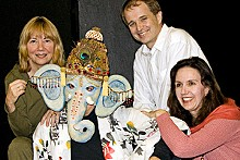 A Passage to India: Ganesh cast members Jane Abling, Steve Callahan, Matt Hanify and Renee Sevier-Monsey.