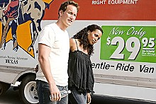 Guess who's moving in next door: Patrick Wilson and Kerry Washington as biracial couple Chris and Lisa Mattson.