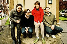 RYAN RUSSELL - Death Cab For Cutie: Nick Harmer, Ben Gibbard, Chris Walla, Jason McGerr.