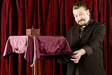 JENNIFER SILVERBERG - Keith Jozsef, an illusionist, wants to raise the standards of magic as high as some of the tables he floats.