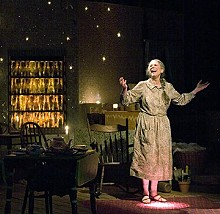 JOHN LAAMB - Nancy Lewis gives a positively illuminating performance as Miss Helen in Mecca.