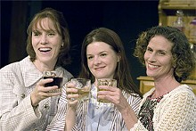 Say cheers to Miss Reardon: (from left) Kirsten Wylder, Colleen M. Backer and Margeau Baue Steinau.