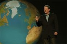 An inconvenient blazer: Al Gore projects truthiness.