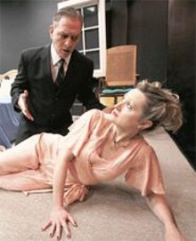 "LISA  MANDEL - Kevin Beyer and Lavonne Byers  the RFT's ""Best of"" actor and actress tandem in 2005  assay Arthur Miller's Broken Glass."
