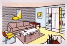 ROY  LICHTENSTEIN - Roy Lichtensteins Modern Room, on display at the - Greenberg Van Doren Gallery beginning Friday.