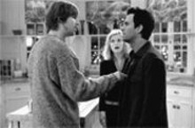 Ghost of a chance: Jon Heder (left) helps Mark Ruffalo (right) connect with Reese Witherspoon's (center) spirit.