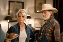 Out-acted by her bikini: Jessica Simpson (with Willie Nelson, poor guy)