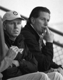 Bill Laurie (left)