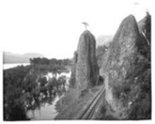 F.J. HAYNES, MONTANA HISTORICAL SOCIETY, HAYNES CO - The Pillars of Hercules and Columbia River, as - seen by F. Jay Haynes in 1895, and by you on - Tuesday.