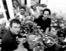 """""""Done with the boy phase"""": (left to right) Joe Vander - Pluym, Dave Harris, John Clements and Eric - """"Frankee"""" Keener are the Trailer Park Travoltas."""