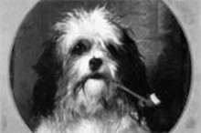 GEORGE  EARL - No, it's not the Marlboro Man's dog -- it's a nineteenth- - century painting of a whimsical dog! (See Saturday.)