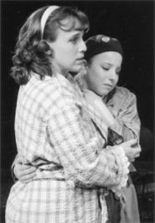 Try a little Tenderness: Pamela Reckamp (left) - and Sarah Wolff (right) must endure an abusive home - life.