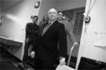 JENNIFER  SILVERBERG - Tom Bauer (front) with developers (from left) Dan - Slavin, Larry Wurm and Joe Dolan