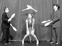 Ah, Philomena is dazzled by the juggling of Peter - Bufano (left) and Mr. Pennygaff (right), and you will be - as well on Wednesday night.