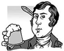 MARK  POUTENIS - Robert Burns hoists a glass to himself.