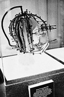 "COURTESY OF THE PAULA COOPER GALLERY, NEW YORK - Zoe Leonard's Beauty Calibrator, Museum of - Beauty, Hollywood, 1993. Gelatin silver print, 33 x - 17"". Collection of Peter Norton, Santa Monica."