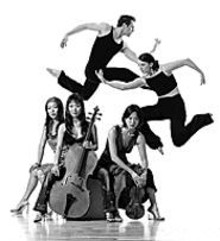 Above: Members of Parsons Dance Company. Below: - The Ahn Trio.