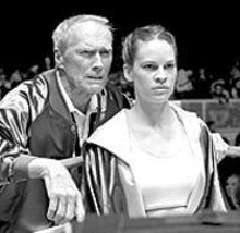 Fighting chance: Clint Eastwood (left) and Hilary - Swank (right) give knockout performances.