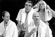 (clockwise from left) Charles Heuvelman, Christopher - Limber, Kevin Beyer and John Pierson bring - extraordinary performances to Willy Holtzman's - glorious memory play.