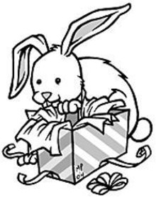 MARK  POUTENIS - Every bunny loves receiving gifts.