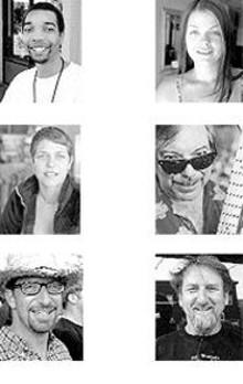 "Chris Washington, Suzanne Modesto and Nick May - (left)  - Teri Koehler, Mark Shark and Richard ""Dee"" Musick - (right)"