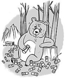 MIKE  GORMAN - Wino the Pooh? No, just a mountain bear who loves mountain beer.