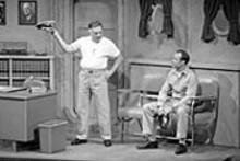 JERRY NAUHEIM JR - Robert Elliott (left) and Bill Doyle find their sea legs in - Mister Roberts.