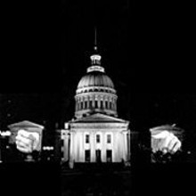 KRZYSTOF  WODICZKO - Krzysztof Wodiczko's St. Louis Projection will - not be on the Old Courthouse -- but here's what it - would have looked like.