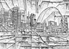 TIMOTHY  ORIKRI - The St. Louis skyline, reimagined by artist Timothy - Orikri.