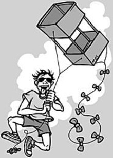 MARK  POUTENIS - Look how excited this guy is about kite-flying -- you - could be him.