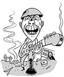 MIKE  GORMAN - Sgt. Rock wants you: Rock your rockin'est rock  at the - Howard Johnson's of Rock!