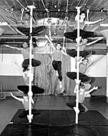 JEANE  VOGEL - The Circus Day Foundation plays its own version of - the arcade classic Pole Position.