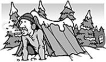 MARK  POUTENIS - Winter camping -- it's like eating a lot of York Peppermint Patties