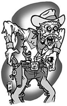 MARK  POUTENIS - Dead cowboys roam Kimmswick