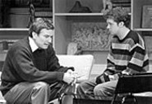 J. BRUCE SUMMERS - No, son, it's not another woman: Martin (Anderson Matthews, left) and Billy (Clint Zugel) have a heart-to-heart