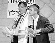Alan Knoll and John Herget plot their route to Miklat, at the New Jewish Theatre through September 21