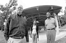 JENNIFER  SILVERBERG - Don J. Smith (left) with fellow Attucks backers Sharonica Hardin and Bernie Hayes