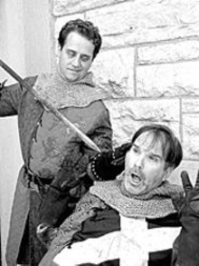 R. Travis Estes and Alan Knoll in Henry IV, part 2