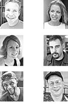 Phil Cohn, Rachel Wildschuetz and Darrell Mixon (left)  - Lauren Kimberly, Steve Ferris and Tray Wetherell (right)
