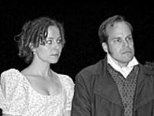 DEANNA  JENT - Kelly Schnider and B. Weller look for love in ACT Inc.'s Pride and Prejudice, this weekend at Fontbonne College.