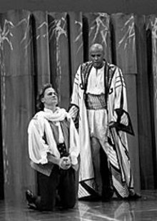 CORY  WEAVER - Gregory Turay as Belmonte and Keith Glover as the Pasha Selim.