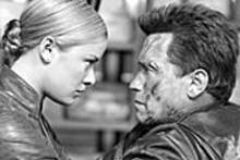 Kristanna Loken and Arnold Schwarzenegger in Terminator 3: Rise of the Machines