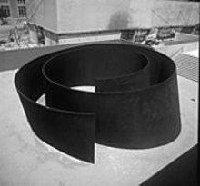 "ROBERT  PETTUS - Richard Serra's ""Joe,"" a fourteen-foot-high torqued-steel spiral commissioned for the Pulitzer Foundation for the Arts"