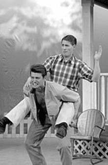Steve Schene (left) and Wesley Cannon in Picnic