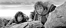 Elijah Wood and Sean Astin in The Lord of the Rings: The Two Towers